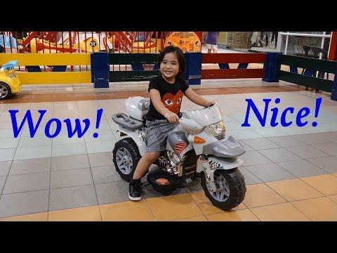 Indoor Amusement Arcade: Fun Kiddie Horse, Plane and Motorcycle Ride! Family Playtime Fun!