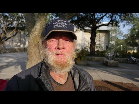Homeless Vietnam Veteran on the Streets of Gainesville, Florida