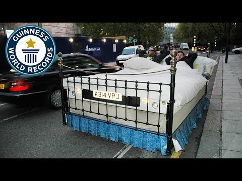 Guinness World Records Day 2008 - Edd China Drives The Fastest Bed