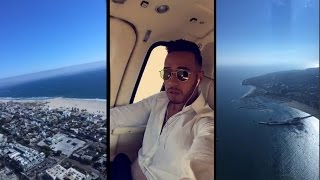 Travelling Over Venice Beach! | Lewis Hamilton Snapchat Vlog