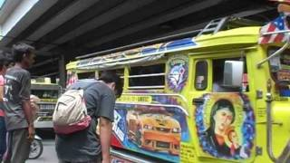catching a jeepney in Manila.dv