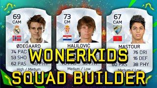 Fifa 16 Wonderkids Squad Builder Ft ødegaard Halilovic Mastour