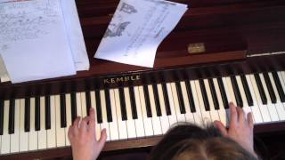 P.5 Twilight cover drive on piano -aged 10