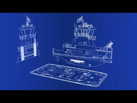 CT Marine Towboat Design with Thrustmaster's Z-Drives