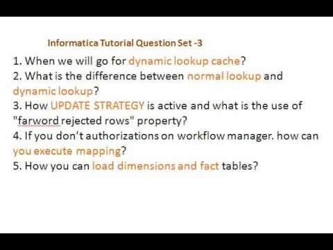 Informatica Interview Questions Set 3 - YouTube