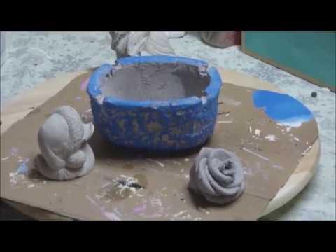 aschenbecher aus knet beton mit gepr gtem muster ganz leicht selber machen youtube