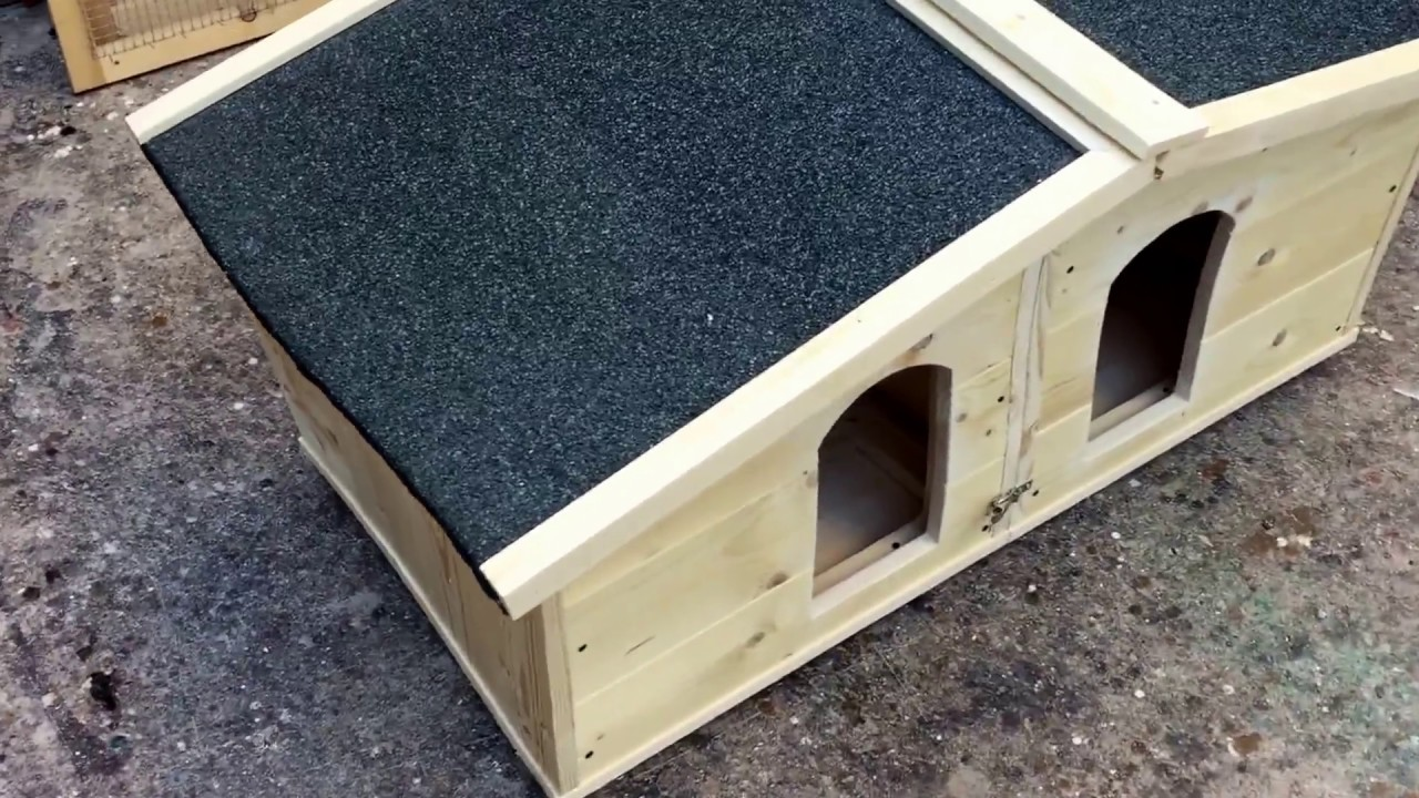Cuccia doppia separabile in due cucce indipendenti youtube for Costruire cuccia per cani coibentata