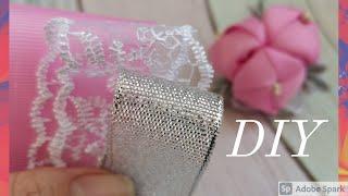 Попробуйте их сделать, нежные весенние бантики из лент/Цветы канзаши просто/kanzashi/ribbon Bow/DIY