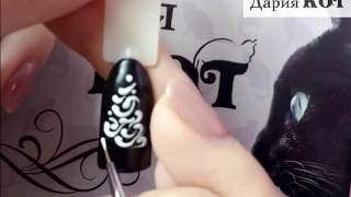 Дизайн ногтей. 💅Новогодняя ёлка🌲)) роспись гель-лаками