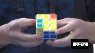 Feliks Zemdegs Rubik's cube (former) world record 6.18 - slow motion
