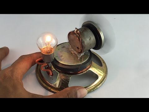 New Ideas Technology 2019  | Generator Free Energy Using By Dc Motor With Speaker Magnet 100%