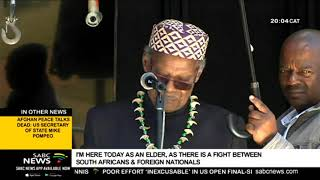 Prince Mangosuthu Buthelezi calls for an end to Joburg unrest