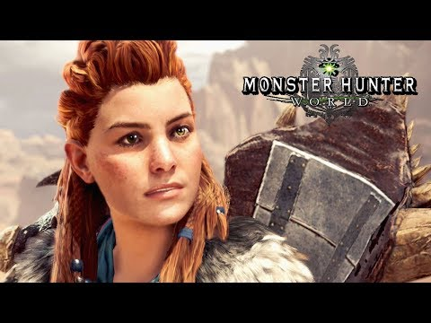 Monster Hunter World DLC   Horizon Zero Dawn Event Quest & Aloy High Rank Armor