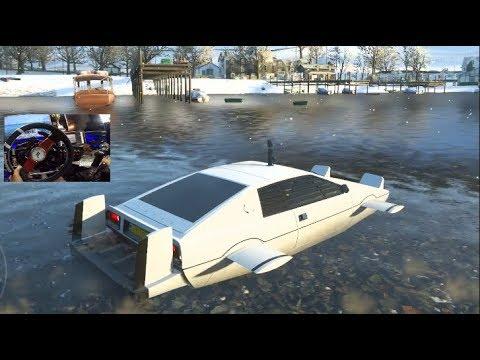 Forza Horizon 4  WATER CAR!! James Bond Car Pack CustomizationDrives ! atec Wheel  SLAPTrain
