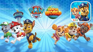 PAW Patrol Rescue World with Chase, Skye, Marshal & Zuma Gameplay