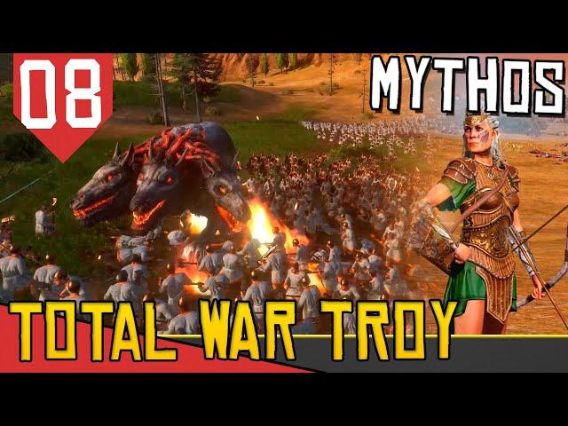 BATALHA COM CERBERO! - Total War Saga Troy Hipólita #08 [Gameplay PT-BR]