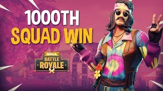 1000th Squad Win!! - Fortnite Battle Royale Gameplay - Ninja
