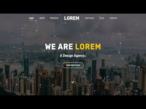 LOREM - Multipurpose HTML Template   One Page HTML Landing Page