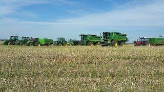 ☆ Big Harvest in Poland ☆ [Extremalne żniwa rzepakowe]  ☆ 2017( 2xS690i John Deere 2xGs3)