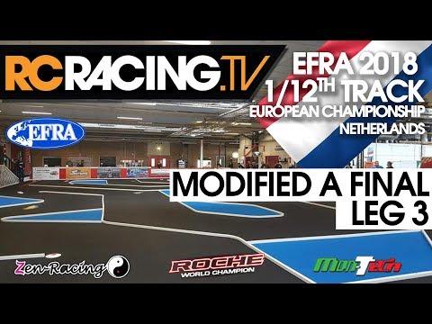 EFRA 1/12th Track Euros 2018 - MODIFIED A Final Leg 3