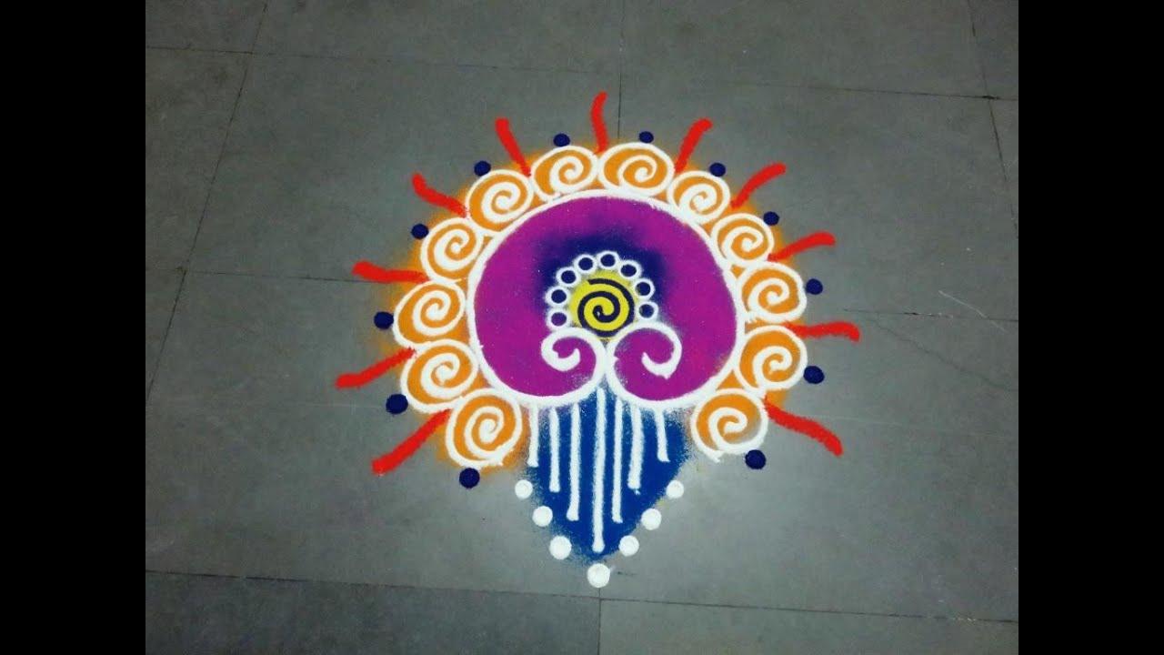 small and easy Sanskarbharti colourful rangoli designskolam