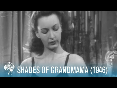 Shades Of Grandmama: Modern Fashion (1946) | British Pathé from YouTube · Duration:  54 seconds