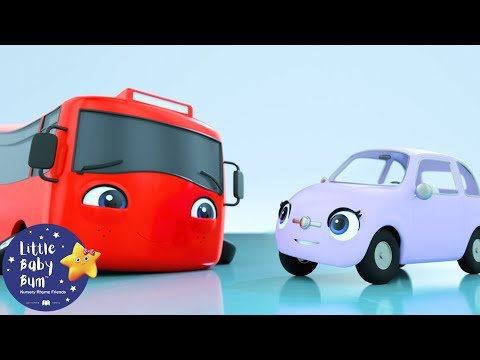 My Little Red Bus on Ice | Go Buster | Baby Songs +More Nursery Rhymes | Little Baby Bum