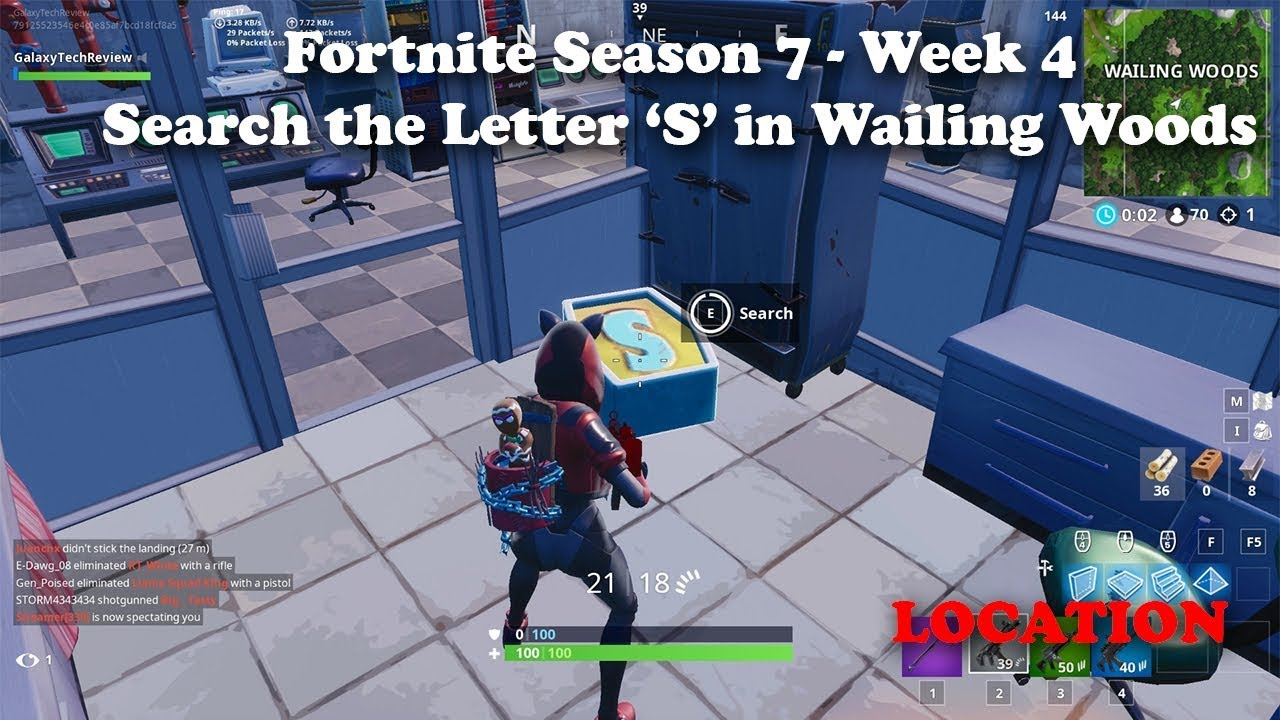 Search The Letter S In Wailing