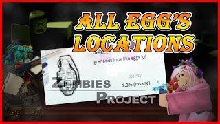 Todos os ovos localização no MMC zombies Project/ROBLOX