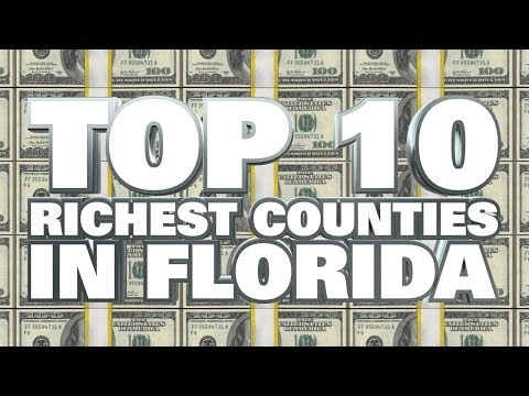 10 Richest Counties in Florida 2014