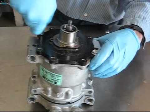 Replacement Of Sanden A C Compressor Shaft Seals Youtube