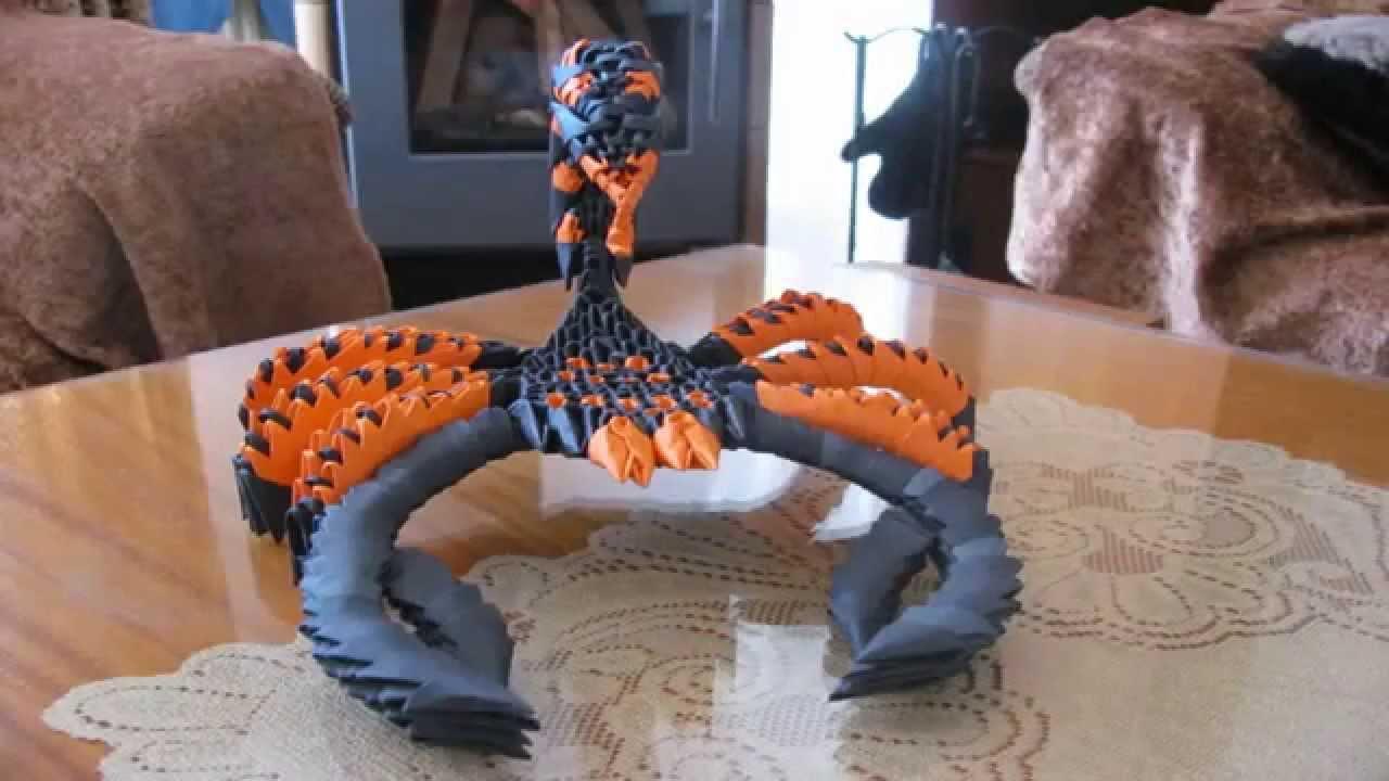 3d origami scorpionavi youtube