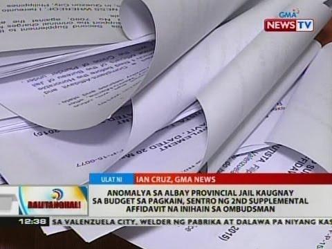 Anomalya sa Albay Provincial Jail kaugnay sa budget sa pagkain, sentro ng 2nd supplemental affidavit