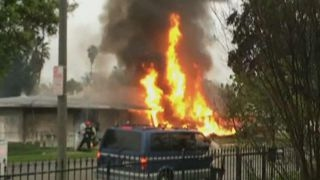 Terrifying moments as small plane crashes in California