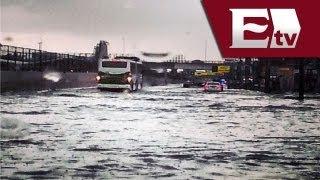Fuertes lluvias azotan Nezahualcóyotl, Estado de México / Titulares con Vianey Esquinca