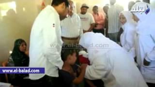 بالفيديو والصور.. محافظ أسوان يتابع أعمال حملة تطعيم الأطفال ضد الحصبة الألمانية