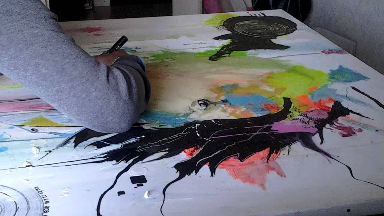 Assez BOB Marley peinture technique mixte Krlito-artiste peintre - YouTube WJ93