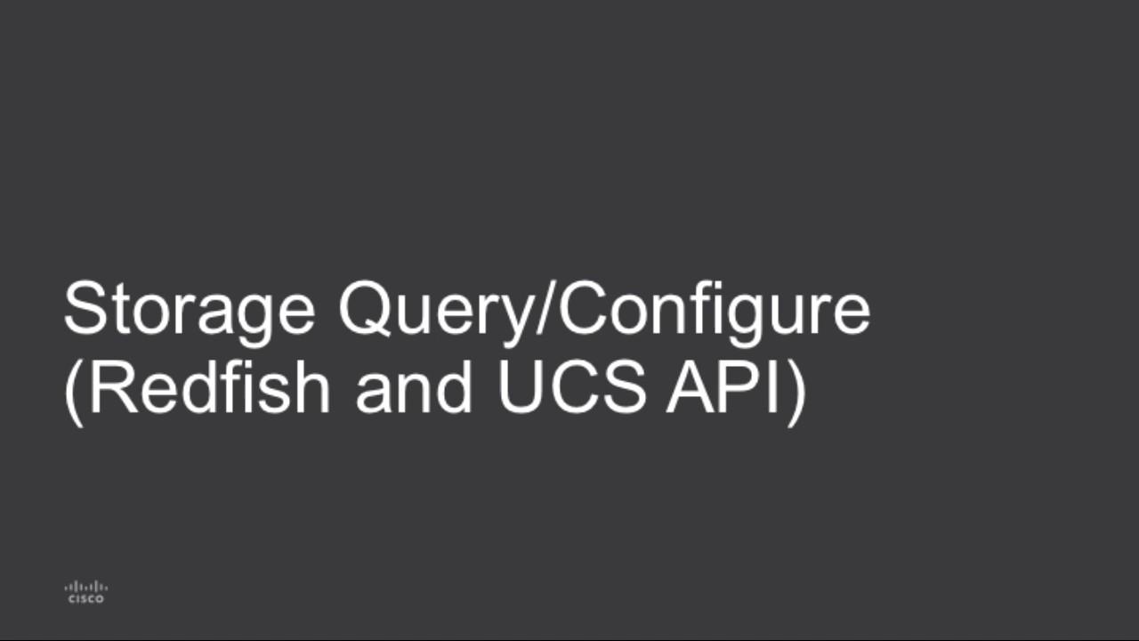 Cisco Supports Redfish Standard: API Enhances UCS Programmability