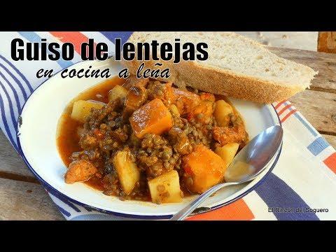 """Guiso De Lentejas En Cocina A Leña """"El Rincón Del Soguero Cocina"""""""