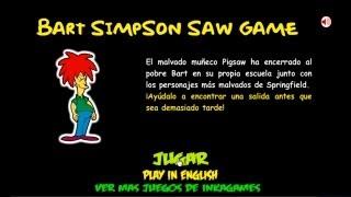 HD Bart Simpson Saw Game Walkthrough / Guía