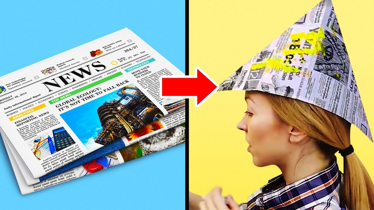 14 UNIQUE NEWSPAPER CRAFTS