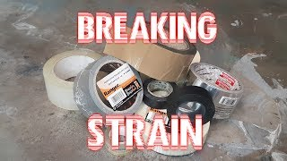 Tapes: breaking strength