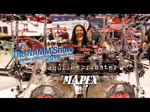 Aquiles Priester & His Mapex Drum Kit At NAMM 2019 With Videographer Jason McNamara