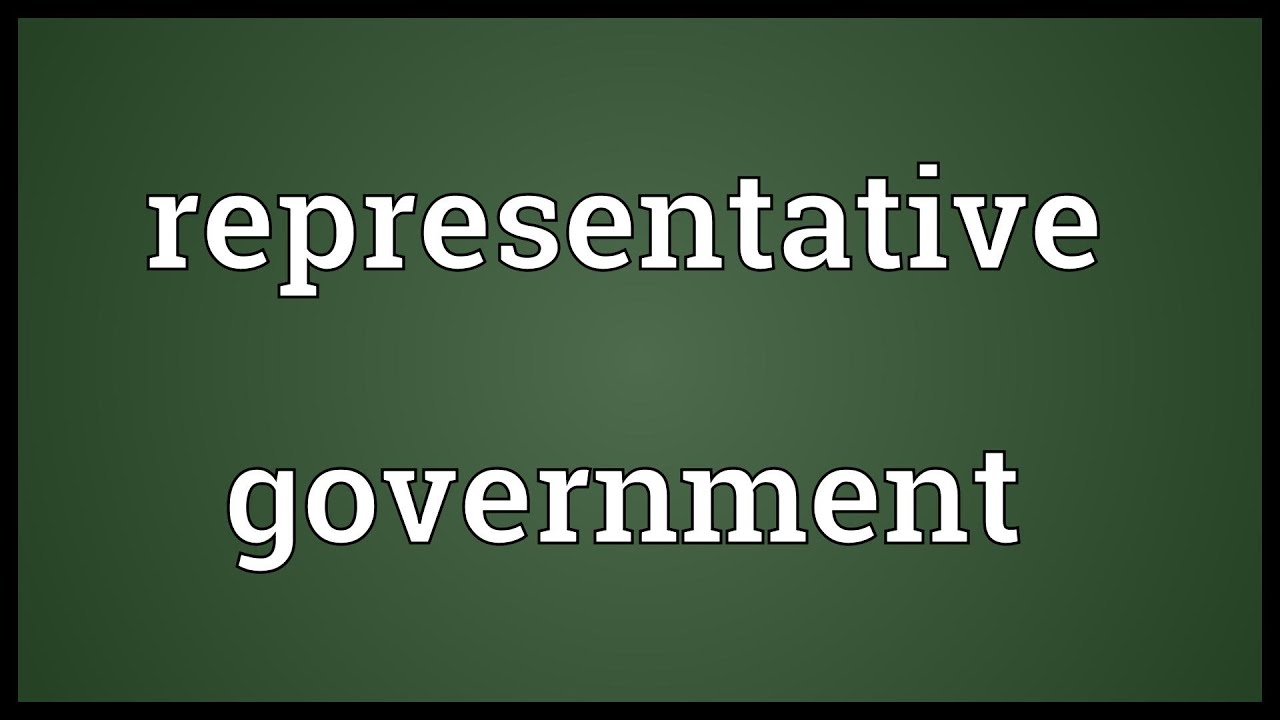 Representative government Meaning - YouTube