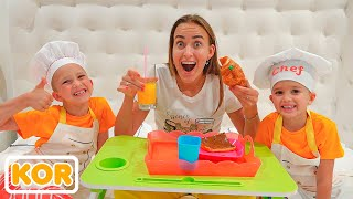 Download 블라드와 니키타는 엄마를 위해 카페와 요리를하는 척