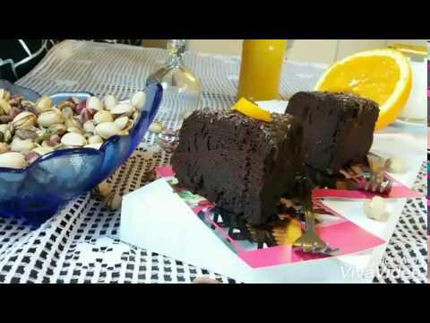 gateau-(2-en-1)gateau-au-chocolat-et-son-glaçage-كيكة-(2-في-1)-كيكة-شكلاطة-و-طليتها