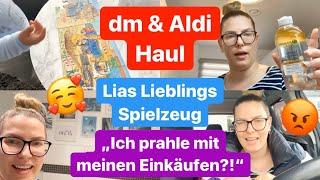"dm & Aldi Food Haul l Statement zum ""Aldi Hamstereinkauf"" Video l Lias Lieblingsspielsachen l Deko"