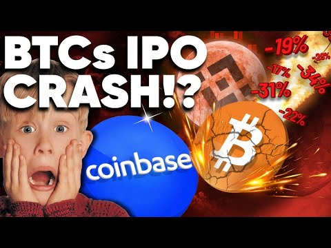 WARNING! BITCOIN to Crash Tomorrow!?…(Coinbase IPO)