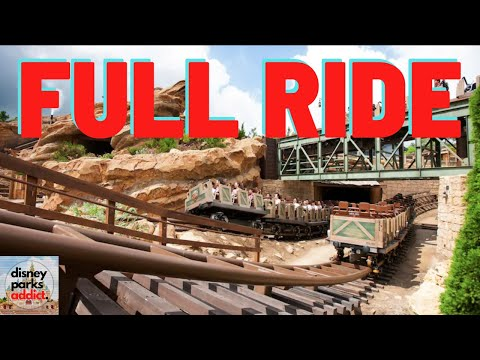Big Grizzly Mountain Runaway Mine Cars On-Ride POV - Hong Kong Disneyland Grizzly Gulch - July 2019