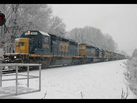 INSANE Railfanning in The Snow in Upstate New York!! Day 1 (Featuring the CSX C40-8 Funeral Train)